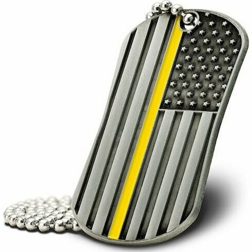 Thin Gold Line Dog Tag